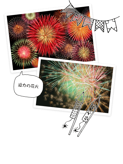 花火イベントで打ち上がる迫力ある花火の画像